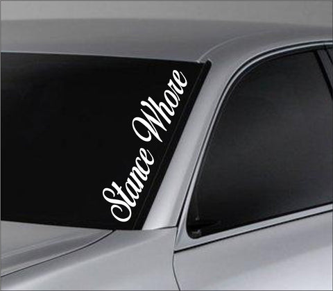 Stance Whore Car Truck Window Windshield Lettering Decal Sticker Decals Stick... - ezwalldecals vinyl decal - vinyl sticker - decals - stickers - wall decal - jdm decal - vinyl stickers - vinyl decals - 1