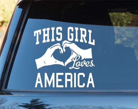 This Girl Loves America Decal Sticker Car Window Truck Laptop - ezwalldecals vinyl decal - vinyl sticker - decals - stickers - wall decal - jdm decal - vinyl stickers - vinyl decals - 1