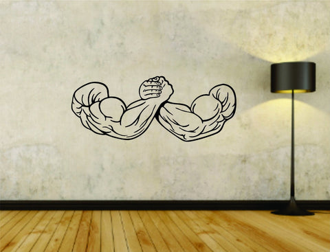 Weightlifting Arm Wrestle Wrestling Flex Flexing Weight Training Workout Gym - ezwalldecals  - vinyl decal - vinyl sticker - decals - stickers - wall decal - jdm decal - vinyl stickers - vinyl decals - 1