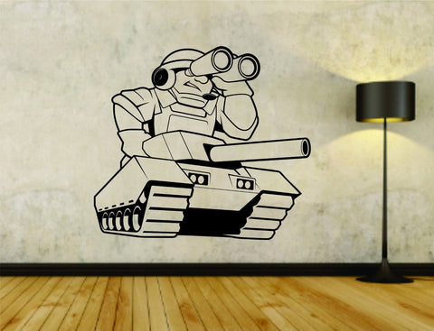 Military Tank with Soldier Branches Soldiers Uniform Vinyl Wall Decal Sticker - ezwalldecals  - vinyl decal - vinyl sticker - decals - stickers - wall decal - jdm decal - vinyl stickers - vinyl decals - 1