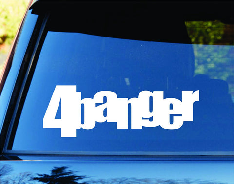 4 Banger Car Truck Window Windshield Lettering Decal Sticker - ezwalldecals vinyl decal - vinyl sticker - decals - stickers - wall decal - jdm decal - vinyl stickers - vinyl decals - 1
