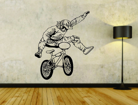 Bmx Rider Bike Bicycle Version 105 Vinyl Wall Decal Sticker - ezwalldecals  - vinyl decal - vinyl sticker - decals - stickers - wall decal - jdm decal - vinyl stickers - vinyl decals - 1