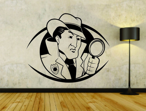 Police Detective Private Eye Policeman Badge Cop Sheriff Uniform Logo Vinyl - ezwalldecals vinyl decal - vinyl sticker - decals - stickers - wall decal - jdm decal - vinyl stickers - vinyl decals - 1