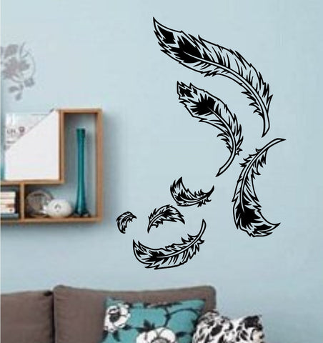 Feathers Floating Wall Decals Vinyl Sticker Art Graphic - ezwalldecals  - vinyl decal - vinyl sticker - decals - stickers - wall decal - jdm decal - vinyl stickers - vinyl decals - 1