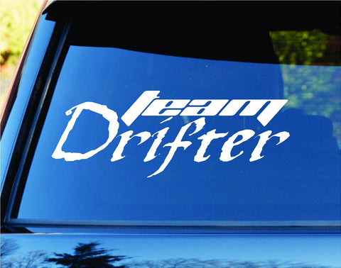 Team Drifter Car Truck Window Windshield Lettering Decal Sticker - ezwalldecals vinyl decal - vinyl sticker - decals - stickers - wall decal - jdm decal - vinyl stickers - vinyl decals - 1