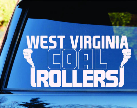 West Virginia Coal Rollers Diesel State Car Truck Window - ezwalldecals  - vinyl decal - vinyl sticker - decals - stickers - wall decal - jdm decal - vinyl stickers - vinyl decals - 1