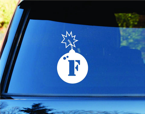 F Bomb Version 102 Car Truck Window Windshield Lettering De... - ezwalldecals vinyl decal - vinyl sticker - decals - stickers - wall decal - jdm decal - vinyl stickers - vinyl decals - 1