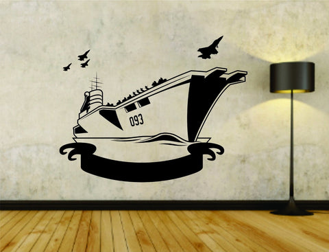 Military Ship Battleship Navy Boat Version 101 Vinyl Wall Decal Sticker - ezwalldecals  - vinyl decal - vinyl sticker - decals - stickers - wall decal - jdm decal - vinyl stickers - vinyl decals - 1