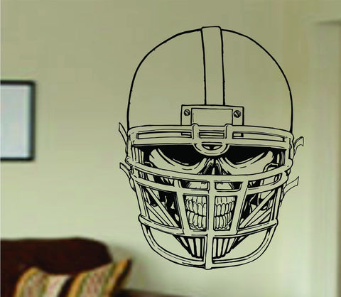 Football Player Helmet and Skull Vinyl Wall Decal Sticker Art Sports Kid - ezwalldecals  - vinyl decal - vinyl sticker - decals - stickers - wall decal - jdm decal - vinyl stickers - vinyl decals - 1
