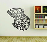 Basketball Rim Basket and Ball Version 102 Sports Vinyl Wall Decal Sticker - ezwalldecals vinyl decal - vinyl sticker - decals - stickers - wall decal - jdm decal - vinyl stickers - vinyl decals - 1