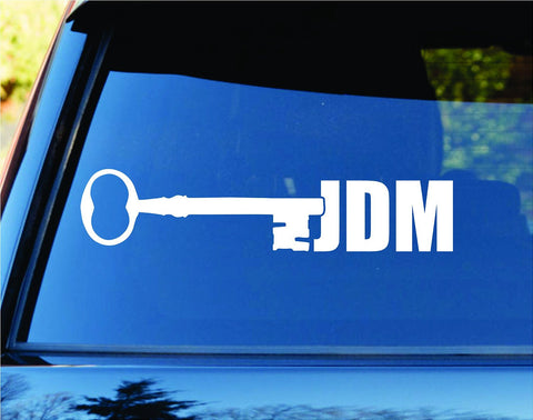 JDM Skeleton Key Car Truck Window Windshield Lettering Decal Sticker - ezwalldecals vinyl decal - vinyl sticker - decals - stickers - wall decal - jdm decal - vinyl stickers - vinyl decals - 1