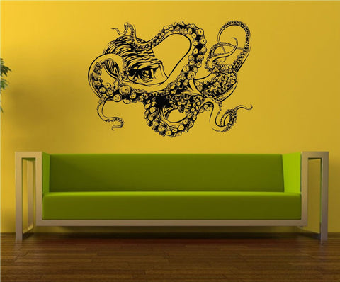 Extra Large Octopus Version 107 Wall Vinyl Decal Sticker Decals Nautical Ocean - ezwalldecals vinyl decal - vinyl sticker - decals - stickers - wall decal - jdm decal - vinyl stickers - vinyl decals - 1