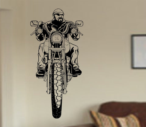 Guy Riding Motorcycle Chopper Rider Version 102 Wall Vinyl Decal Sticker - ezwalldecals  - vinyl decal - vinyl sticker - decals - stickers - wall decal - jdm decal - vinyl stickers - vinyl decals - 1
