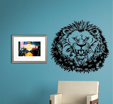 Lion Face Version 110 Sticker Wall Decal Animal King of the Jungle Art Graphic - ezwalldecals  - vinyl decal - vinyl sticker - decals - stickers - wall decal - jdm decal - vinyl stickers - vinyl decals - 1