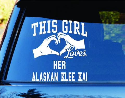This Girl Loves Her Alaskan Klee Kai Decal Sticker Car Window - ezwalldecals vinyl decal - vinyl sticker - decals - stickers - wall decal - jdm decal - vinyl stickers - vinyl decals - 1