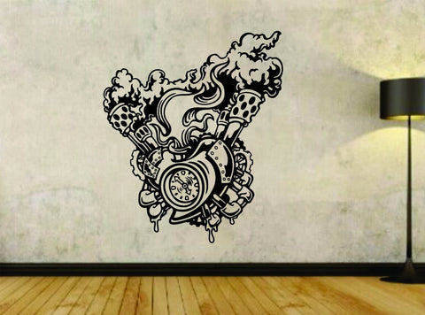Steampunk Heart Design Version 101 Vinyl Wall Decal Sticker Car Window Truck - ezwalldecals  - vinyl decal - vinyl sticker - decals - stickers - wall decal - jdm decal - vinyl stickers - vinyl decals - 1