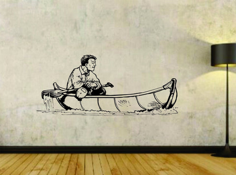 Canoe Canoeing River Water Sports Version 101 Vinyl Wall Decal Sticker - ezwalldecals vinyl decal - vinyl sticker - decals - stickers - wall decal - jdm decal - vinyl stickers - vinyl decals - 1