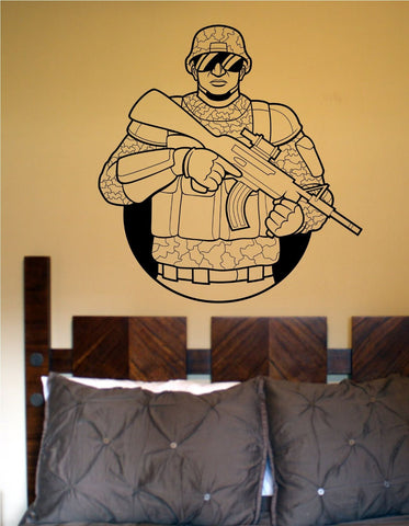 Soldier Version 102 Military Vinyl Wall Decal Sticker - ezwalldecals  - vinyl decal - vinyl sticker - decals - stickers - wall decal - jdm decal - vinyl stickers - vinyl decals - 1