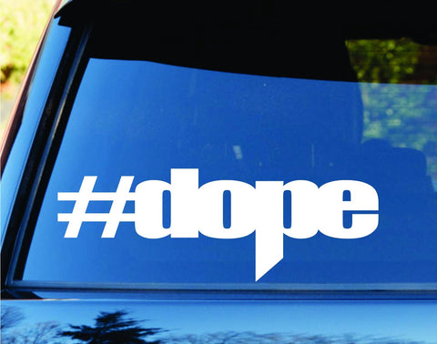 Hashtag Dope Car Truck Window Windshield Lettering Decal Sticker Decals Stick... - ezwalldecals vinyl decal - vinyl sticker - decals - stickers - wall decal - jdm decal - vinyl stickers - vinyl decals - 1