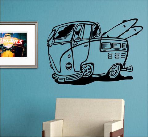 VW Bus Version 105 Sticker Wall Mural Art Graphic Beach Bug Volkswagon Beetle - ezwalldecals  - vinyl decal - vinyl sticker - decals - stickers - wall decal - jdm decal - vinyl stickers - vinyl decals - 1