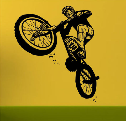 BMX Rider Version 102 Decal Sticker Bike Bicycle X Games Racing Boy Teen Wall - ezwalldecals  - vinyl decal - vinyl sticker - decals - stickers - wall decal - jdm decal - vinyl stickers - vinyl decals - 1