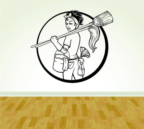 Janitor Maid Service version 103 Decal Sticker Wall Boy Girl Cleaning04OCC4 - ezwalldecals  - vinyl decal - vinyl sticker - decals - stickers - wall decal - jdm decal - vinyl stickers - vinyl decals - 1