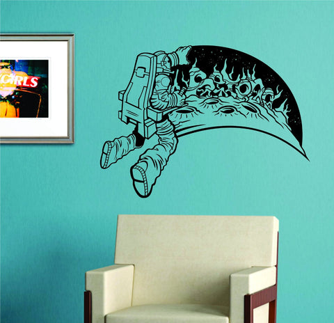 Astronaut on a Planet Vinyl Wall Decal Sticker Art Graphic Nasa - ezwalldecals vinyl decal - vinyl sticker - decals - stickers - wall decal - jdm decal - vinyl stickers - vinyl decals - 1
