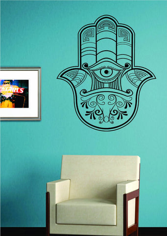 Hamsa Hand Version 109 Decal Sticker Wall Vinyl Art Blessings Power Strength - ezwalldecals  - vinyl decal - vinyl sticker - decals - stickers - wall decal - jdm decal - vinyl stickers - vinyl decals - 1