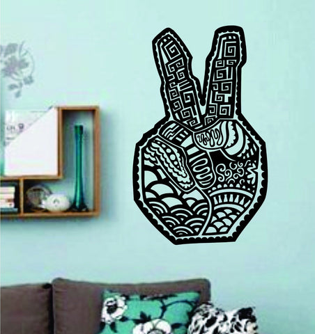 Tribal Peace Symbol Hand Vinyl Wall Decal Sticker Car Window Truck Decals Sti... - ezwalldecals vinyl decal - vinyl sticker - decals - stickers - wall decal - jdm decal - vinyl stickers - vinyl decals - 1