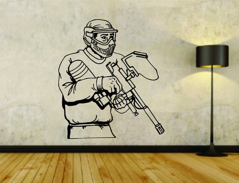 Paintball Paintballer Man Version 107 Vinyl Wall Decal Sticker - ezwalldecals  - vinyl decal - vinyl sticker - decals - stickers - wall decal - jdm decal - vinyl stickers - vinyl decals - 1