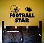 Football Star Quarterback Running Back Vinyl Wall Decal Sticker - ezwalldecals  - vinyl decal - vinyl sticker - decals - stickers - wall decal - jdm decal - vinyl stickers - vinyl decals - 1