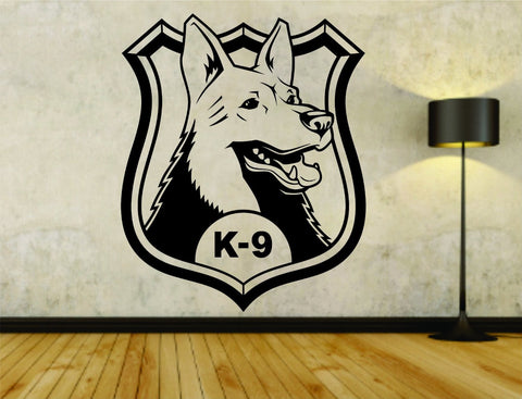 Police K9 Unit Police Dog Logo Vinyl Wall Decal Sticker - ezwalldecals  - vinyl decal - vinyl sticker - decals - stickers - wall decal - jdm decal - vinyl stickers - vinyl decals - 1