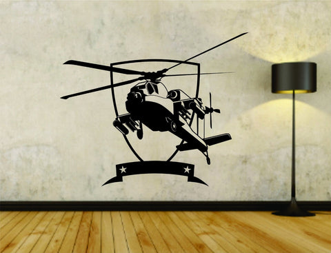 Military Helicopter Version 102 Vinyl Wall Decal Sticker - ezwalldecals  - vinyl decal - vinyl sticker - decals - stickers - wall decal - jdm decal - vinyl stickers - vinyl decals - 1