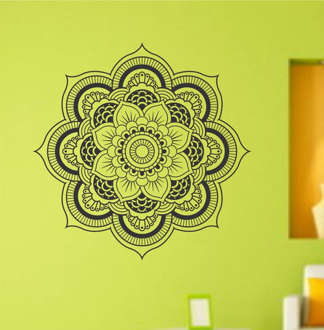 Mandala Menhdi Flower Pattern Version 101 Decal Sticker - ezwalldecals vinyl decal - vinyl sticker - decals - stickers - wall decal - jdm decal - vinyl stickers - vinyl decals - 1