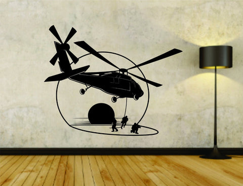 Military Helicopter Version 101 Vinyl Wall Decal Sticker - ezwalldecals  - vinyl decal - vinyl sticker - decals - stickers - wall decal - jdm decal - vinyl stickers - vinyl decals - 1