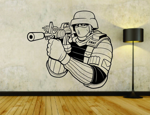 Police Swat Team Policeman Badge Cop Sheriff Uniform Logo Vinyl Wall Decal - ezwalldecals  - vinyl decal - vinyl sticker - decals - stickers - wall decal - jdm decal - vinyl stickers - vinyl decals - 1