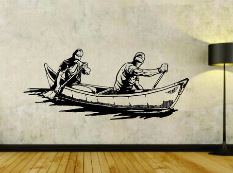 Canoe Canoeing River Water Sports Vinyl Wall Decal Sticker - ezwalldecals vinyl decal - vinyl sticker - decals - stickers - wall decal - jdm decal - vinyl stickers - vinyl decals - 1