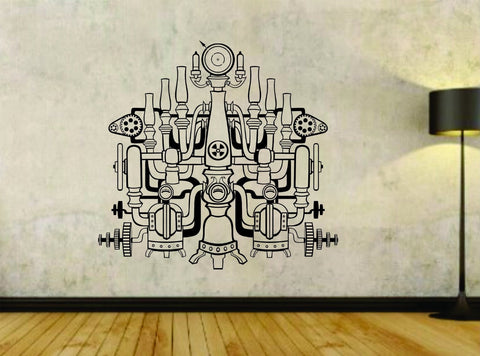 Steampunk Pipes Design Vinyl Wall Decal Sticker - ezwalldecals  - vinyl decal - vinyl sticker - decals - stickers - wall decal - jdm decal - vinyl stickers - vinyl decals - 1