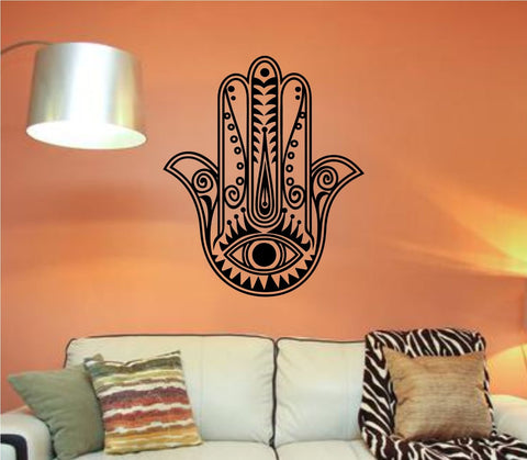 Hamsa Hand Version 103 Decal Sticker Wall Vinyl Art Blessings Power Strength - ezwalldecals  - vinyl decal - vinyl sticker - decals - stickers - wall decal - jdm decal - vinyl stickers - vinyl decals - 1