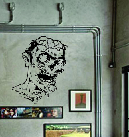 Zombie Face Wall Decal Sticker the Walking Dead Mural Art Graphic - ezwalldecals  - vinyl decal - vinyl sticker - decals - stickers - wall decal - jdm decal - vinyl stickers - vinyl decals - 1