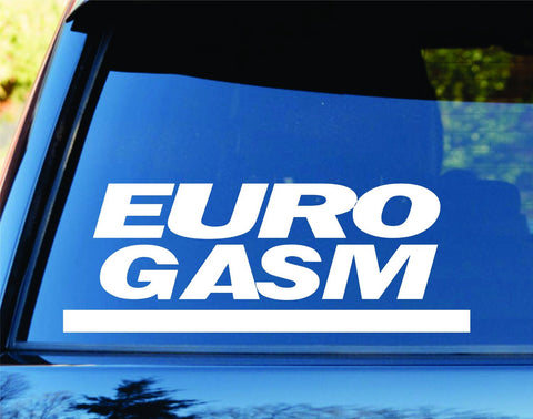 Euro Gasm Car Truck Window Windshield Lettering Decal - ezwalldecals vinyl decal - vinyl sticker - decals - stickers - wall decal - jdm decal - vinyl stickers - vinyl decals - 1