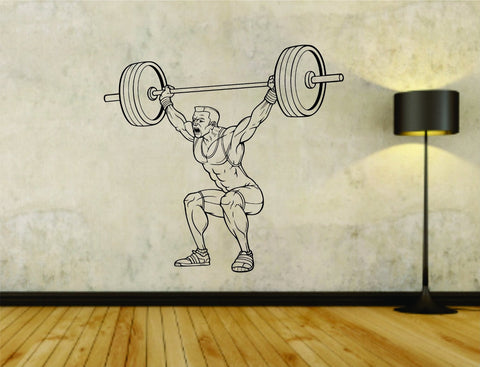 Man Lifting Weights Version 103 Bar Powerlifter Fitness Gym Weightlifting - ezwalldecals  - vinyl decal - vinyl sticker - decals - stickers - wall decal - jdm decal - vinyl stickers - vinyl decals - 1