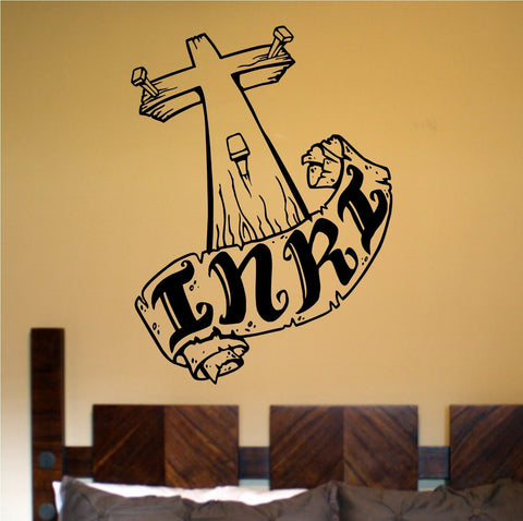 Cross Version 101 Vinyl Wall Decal Sticker Art Graphic Christian Church Jesus - ezwalldecals  - vinyl decal - vinyl sticker - decals - stickers - wall decal - jdm decal - vinyl stickers - vinyl decals - 1