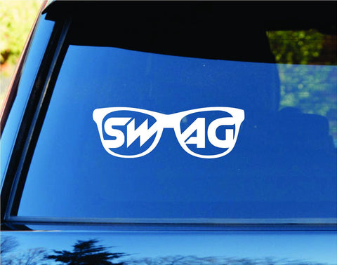 Sunglasses Swag Car Truck Window Windshield Lettering Decal - ezwalldecals vinyl decal - vinyl sticker - decals - stickers - wall decal - jdm decal - vinyl stickers - vinyl decals - 1