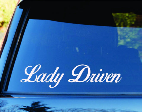 Lady Driven Car Window Windshield Lettering Decal Sticker Decals Stickers JDM... - ezwalldecals vinyl decal - vinyl sticker - decals - stickers - wall decal - jdm decal - vinyl stickers - vinyl decals - 1