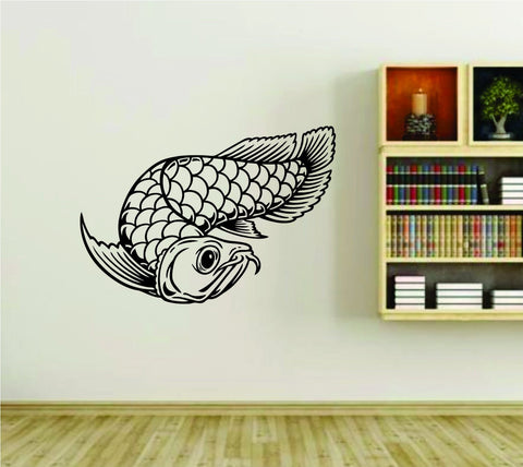 Koi Fish Version 101 Asian Asia Vinyl Wall Decal Sticker - ezwalldecals  - vinyl decal - vinyl sticker - decals - stickers - wall decal - jdm decal - vinyl stickers - vinyl decals - 1