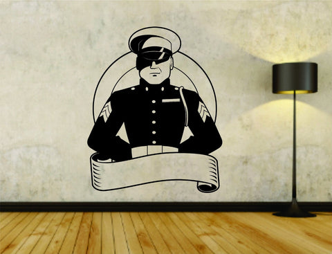 Military Service Branch Soldier in Uniform Vinyl Wall Decal Sticker - ezwalldecals  - vinyl decal - vinyl sticker - decals - stickers - wall decal - jdm decal - vinyl stickers - vinyl decals - 1
