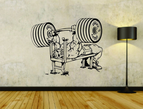 Benchpress Weight Bar Powerlifter Fitness Gym Weightlifting Bodybuilder - ezwalldecals  - vinyl decal - vinyl sticker - decals - stickers - wall decal - jdm decal - vinyl stickers - vinyl decals - 1