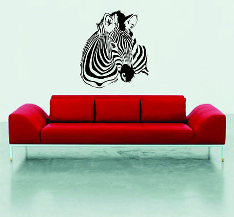 Zebra Head Decal Sticker Wall Mural Nursery Children Modern Kids Stripes - ezwalldecals  - vinyl decal - vinyl sticker - decals - stickers - wall decal - jdm decal - vinyl stickers - vinyl decals - 1
