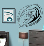 Surfer Riding Wave Decal Sticker Wall Ocean Surf Boy Girl Nursery Sport - ezwalldecals  - vinyl decal - vinyl sticker - decals - stickers - wall decal - jdm decal - vinyl stickers - vinyl decals - 1